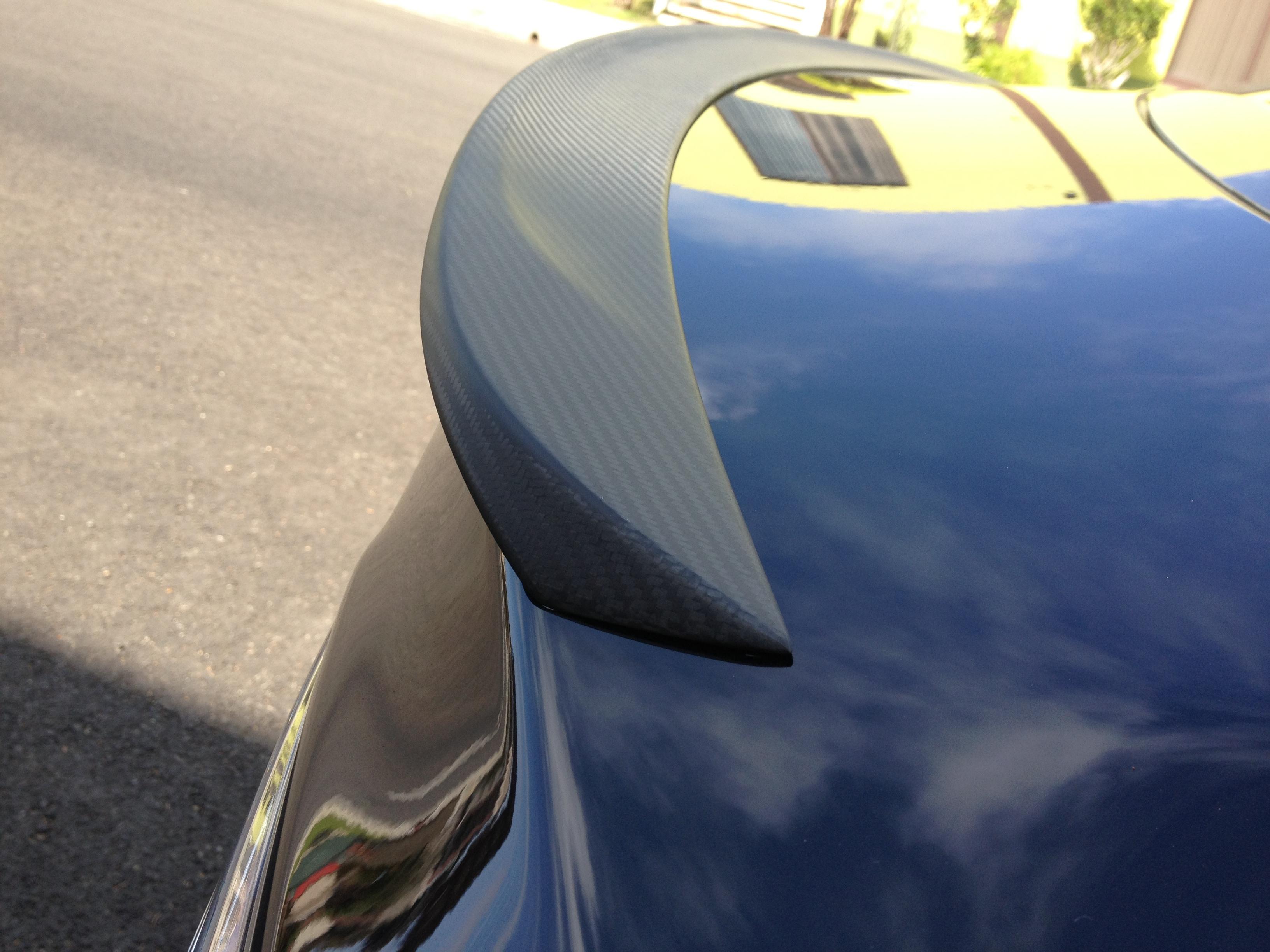Tesla Model S Carbon Fiber Spoiler Matte