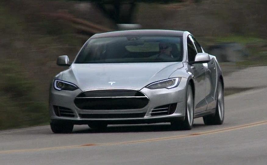 Tesla Model S Front Grille Single Chrome Stripe