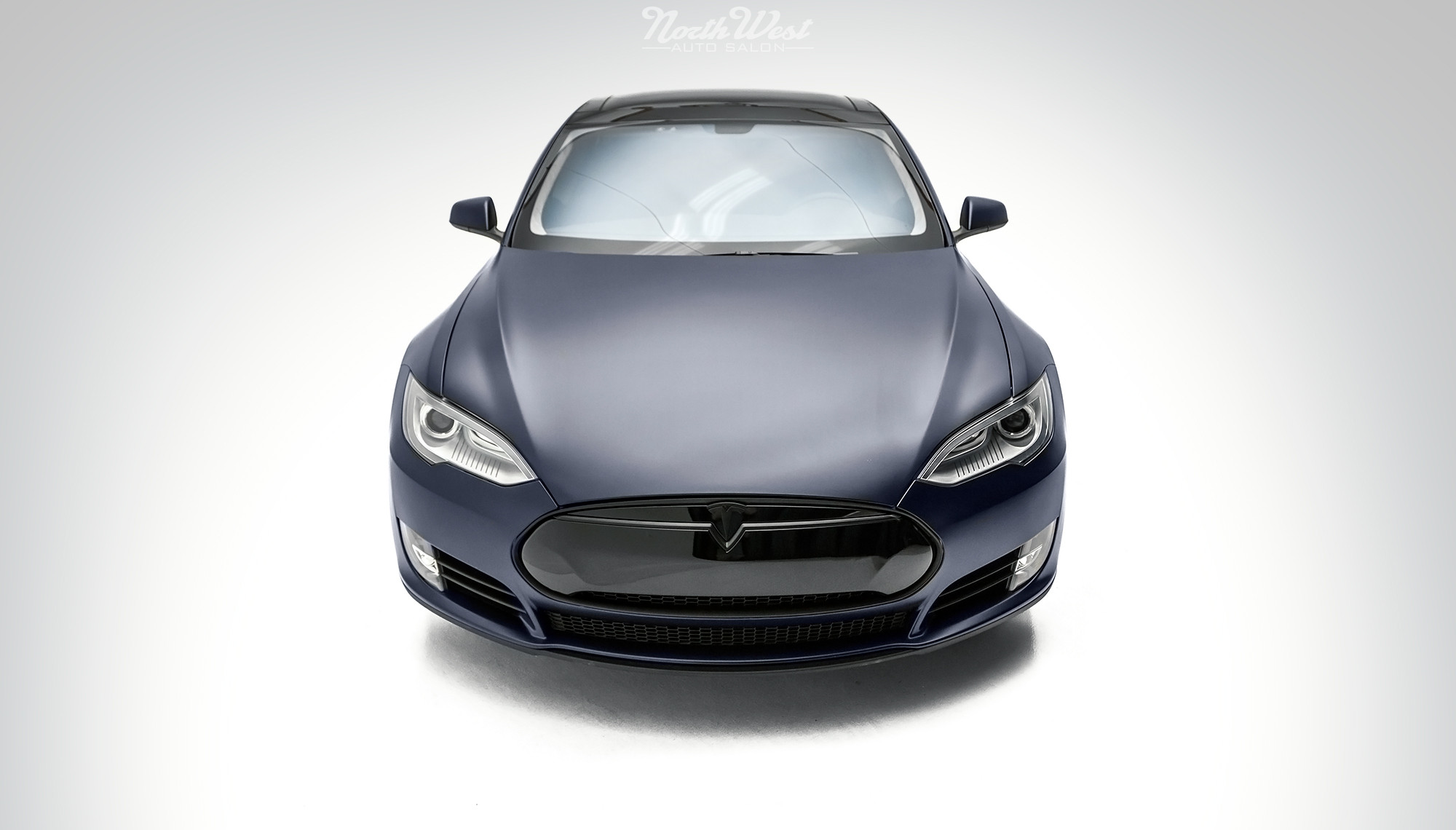 Tesla Model S Stealth Wrapped Front