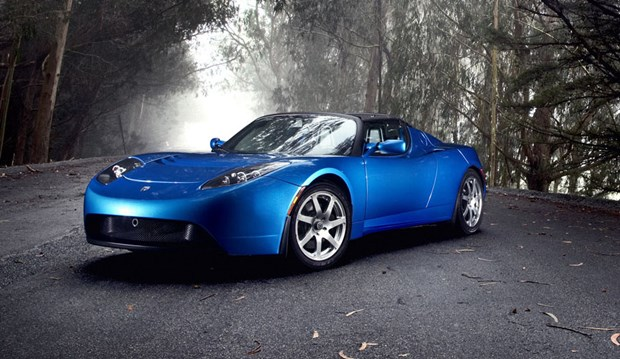 Tesla Roadster-blue