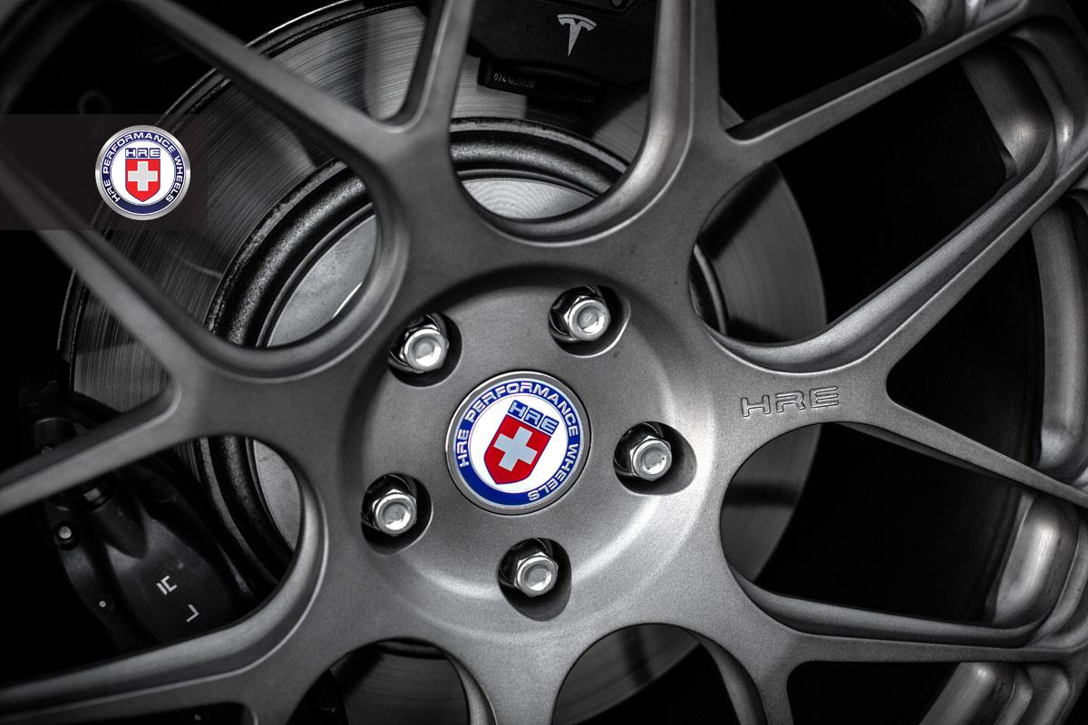 Tesla Model S HRE Aftermarket Wheel Close Up