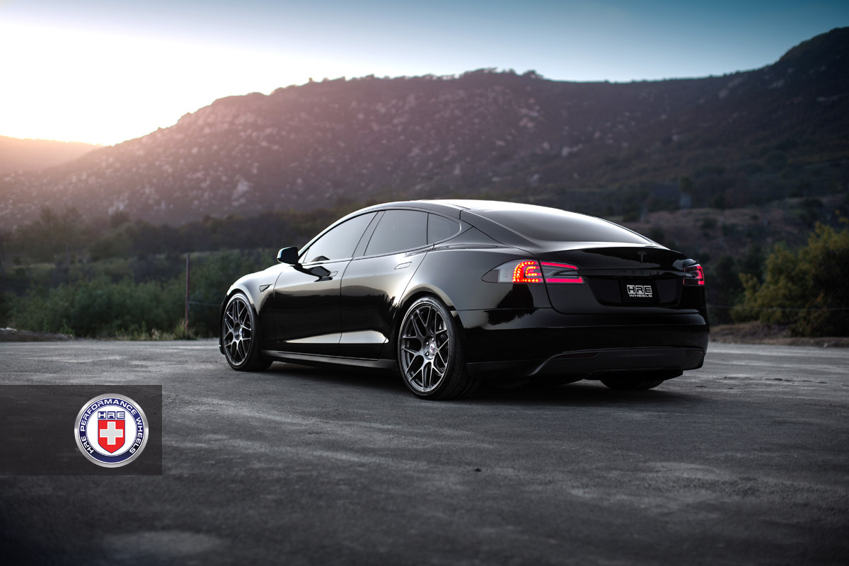 Gray Tesla Model s Tesla Model s Hre Aftermarket