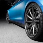 Tesla Model S Vossen Aftermarket Wheel Rear Close Up