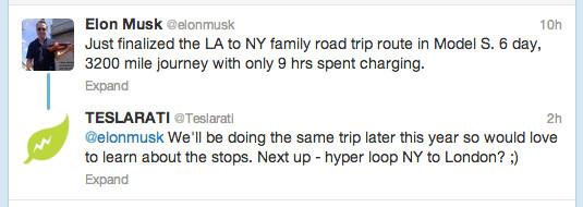 Elon-Musk-Cross-Country-Model-S-Tweet