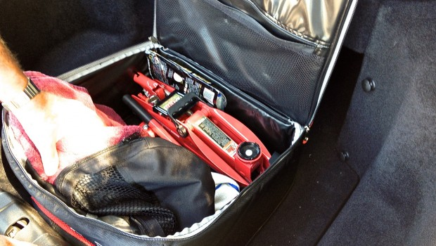 Tesla Model S Frunk Organizer with Jack