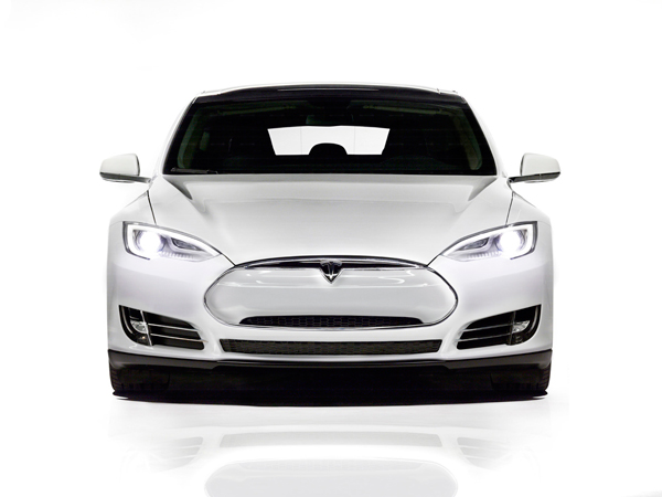 Tesla Model S Nose Cone Painted