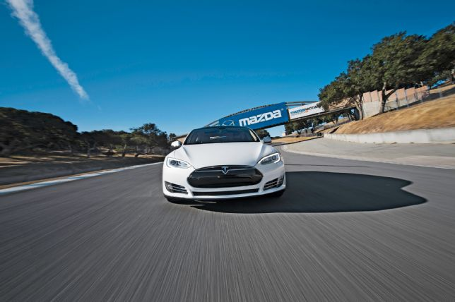 Tesla Model S on the Track