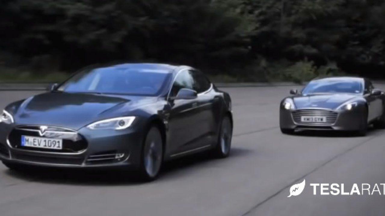 Tesla Model S Vs Aston Martin Rapide S Video
