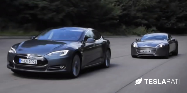 Tesla Model S Vs Aston Martin Rapide S Video - Aston martin rapide
