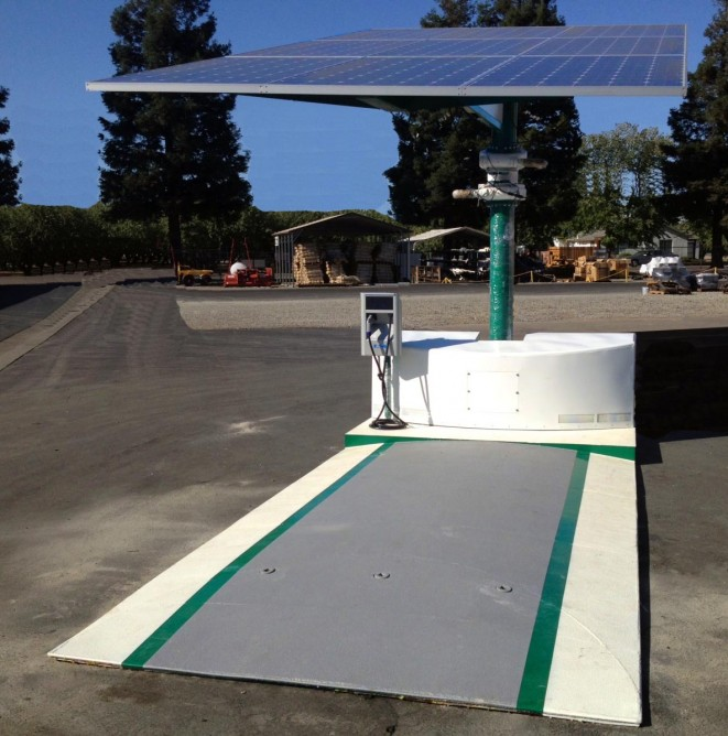 Portable Solar Powered EV Charging Station