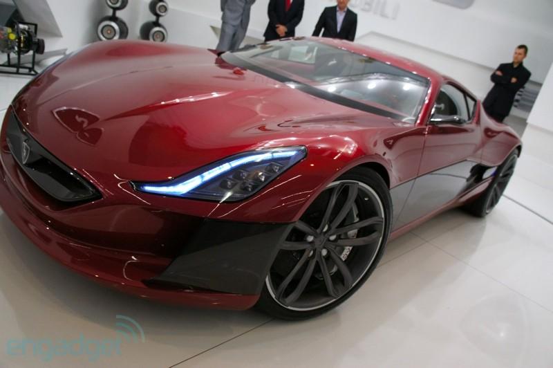Rimac Concept One Car Show Front
