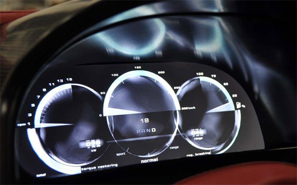 Rimac Concept One Instrument Cluster