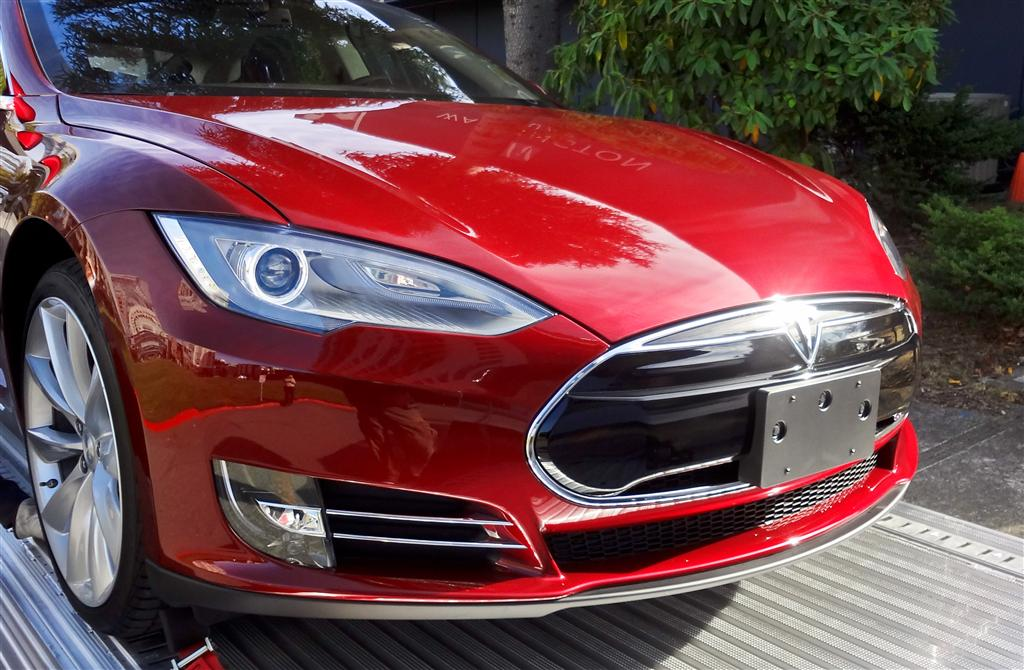 installing the tesla model s front license plate bracket