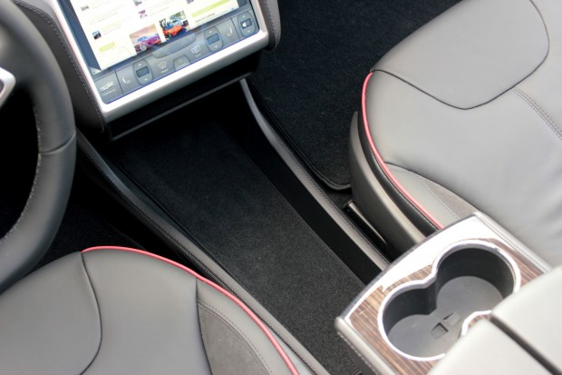 Model S Center Console Insert Removed