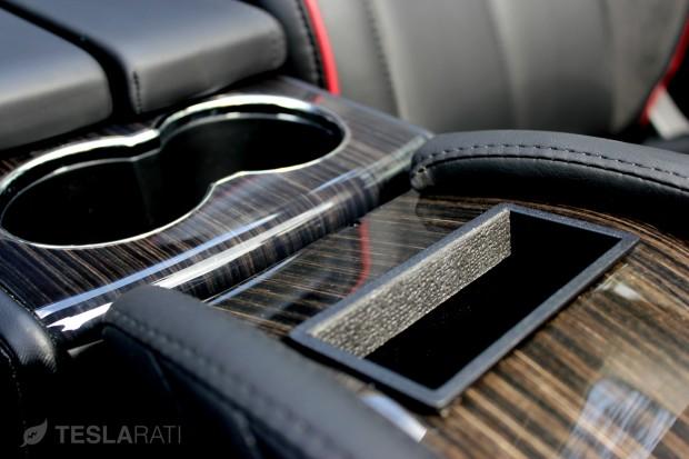 Teslaccessories Model S Center Console Insert (CCI) Obeche Wood Gloss Factory Match