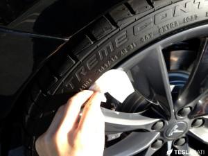Rimblade Tesla Model S Wheel Protector Installation 3M IPA Wipe