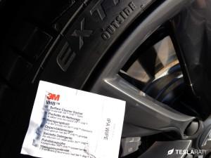 Rimblade Tesla Model S Wheel Protector Installation 3M IPA
