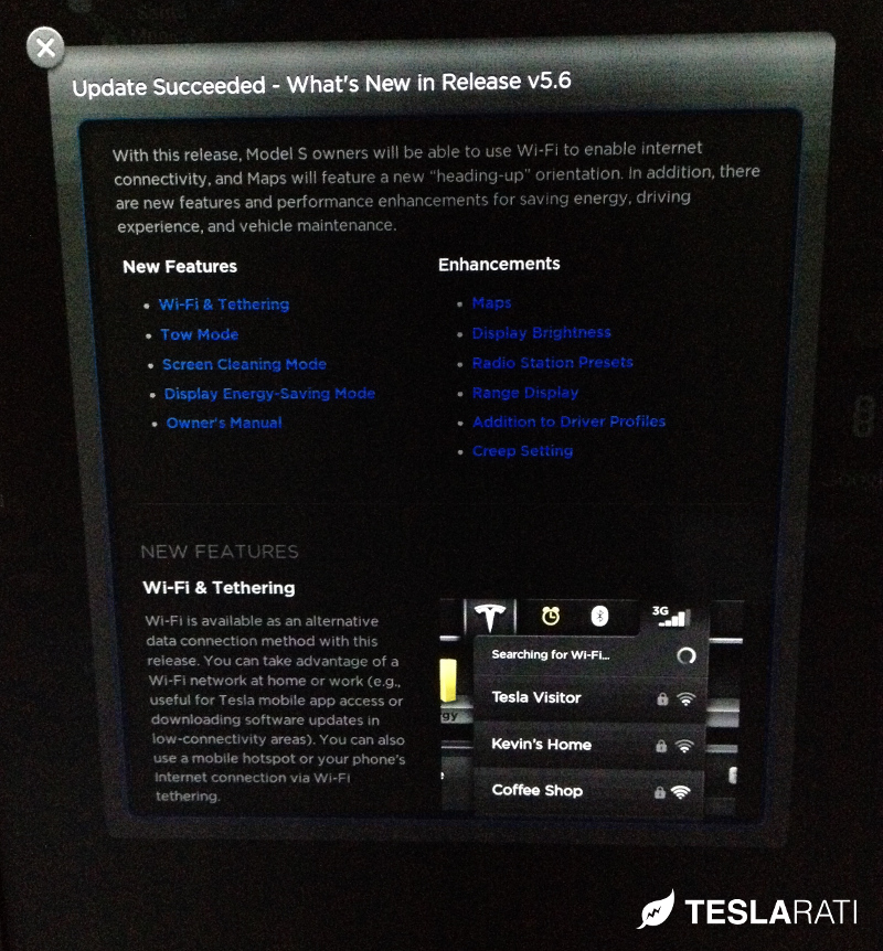 Tesla Model S Firmware 5.6 Release Notes