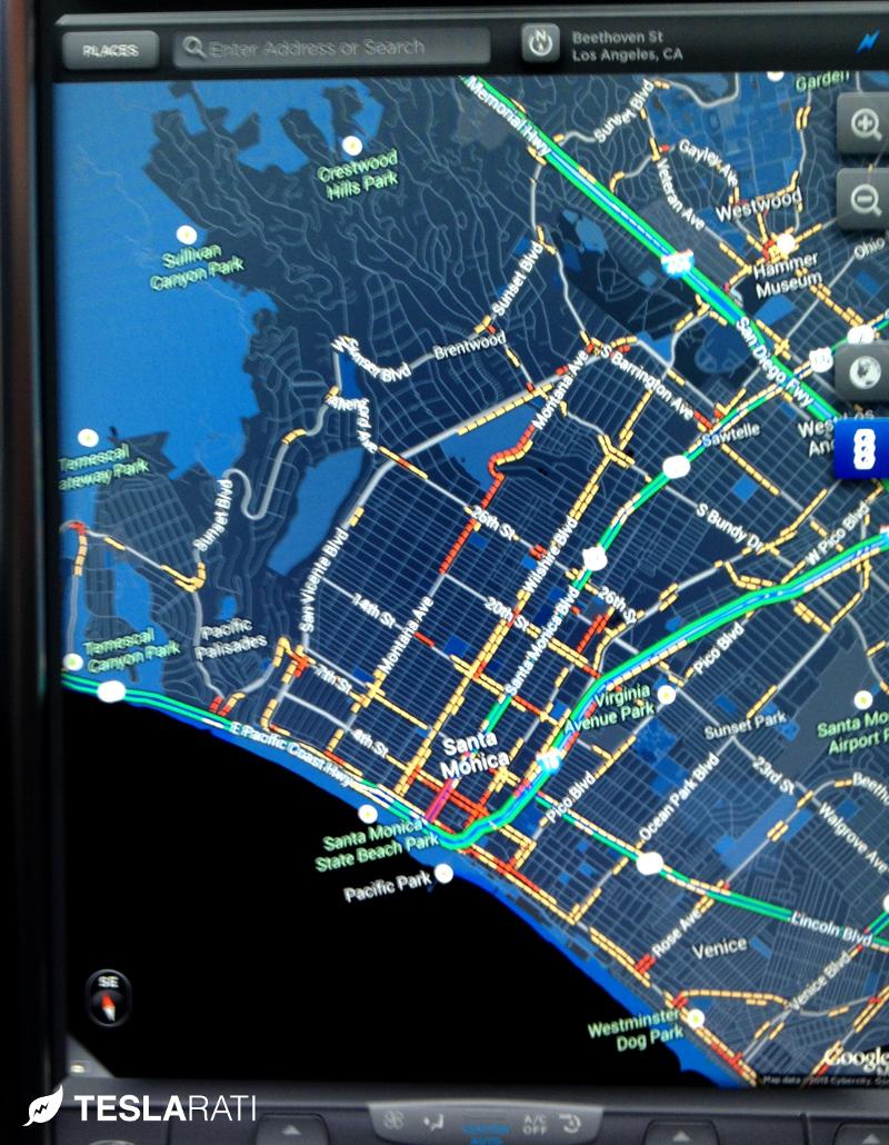 Tesla Model S Firmware 5.6 Maps Compass