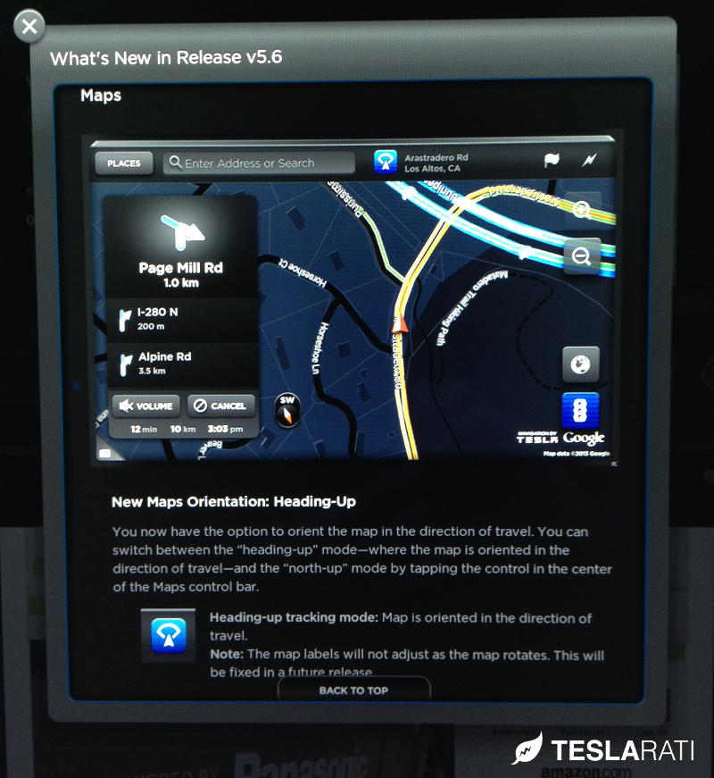 Tesla Model S Firmware 5.6 New Maps