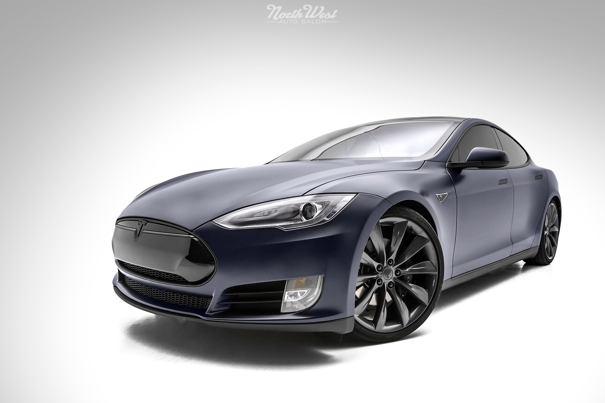 Tesla Model S Stealth Wrapped