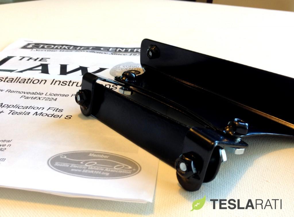 Torklift The Law Removable Tesla Model S Front License Plate Frame