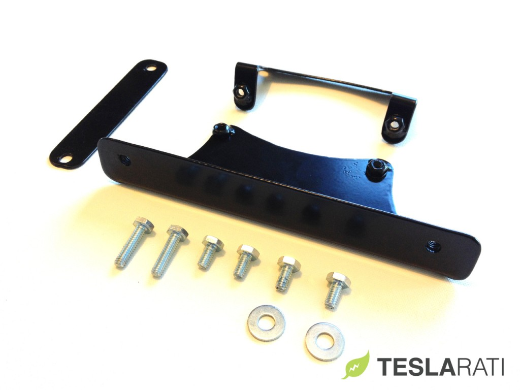 Torklift The Law Removable Tesla Model S Front License Plate Frame Components
