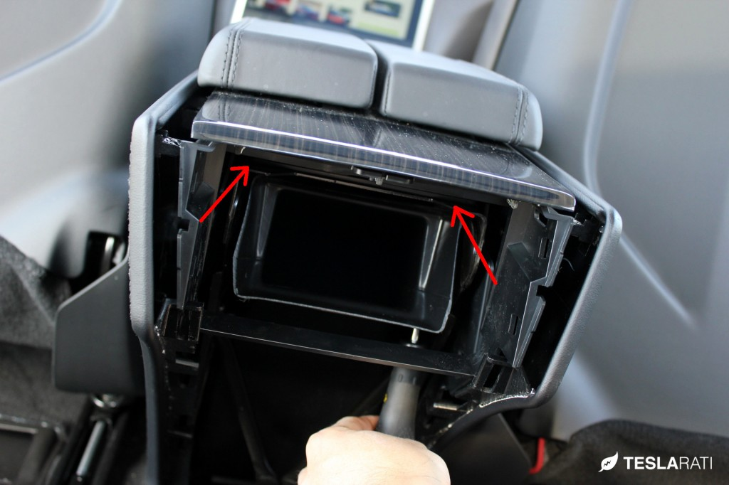 PARZ Premium Tesla Model S Rear Seat Cup Holders Install