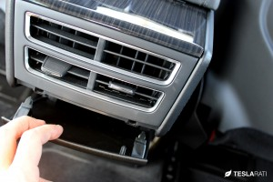 PARZ Premium Tesla Model S Rear Seat Cup Holders Rear Vent