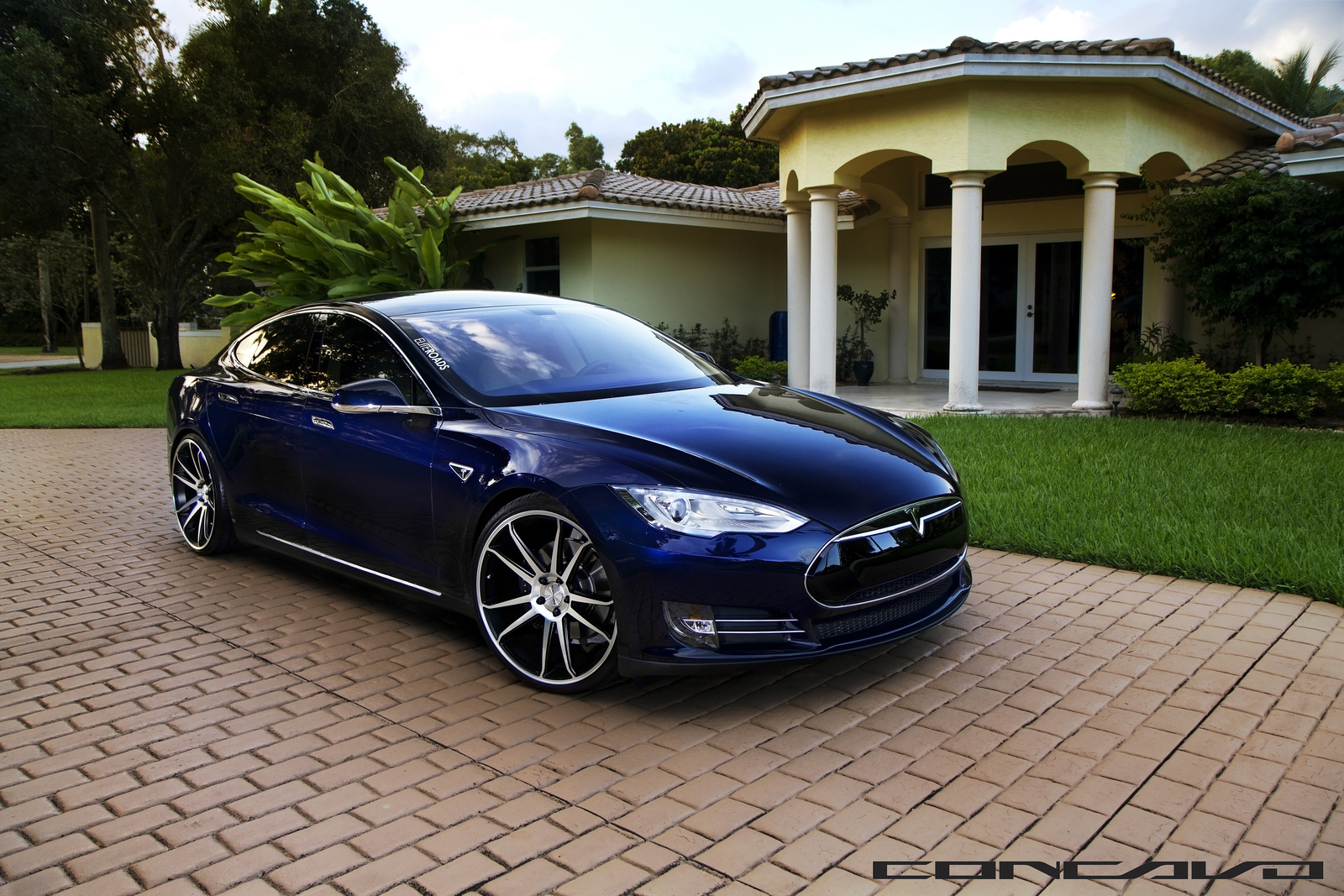 Tesla-Model-S-Concavo-22inch-Wheels-3-4-Front