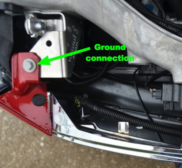 Tesla Model S Lighted T Ground Connection