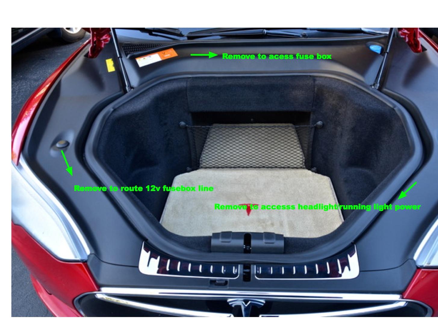 Tesla Model S Lighted T Installation Instructions Function Of Car Fuse Box Frunk Panels
