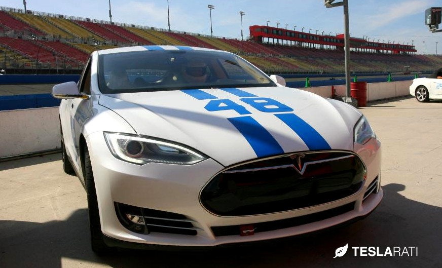 The Quot 48 Quot Tesla Model S Takes On Buttonwillow Raceway Video