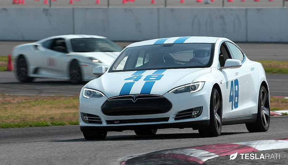 Tesla 48 Race Car Vs Ferrari