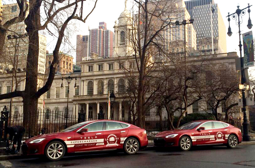 Tesla Model S Cross Country Rally Los Angeles To New York Video