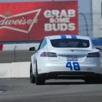 48 Tesla Racing on Nascar Track