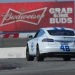 48 Tesla Racing on Nascar Track