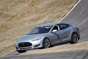 John Tamplin's Model S at a track day