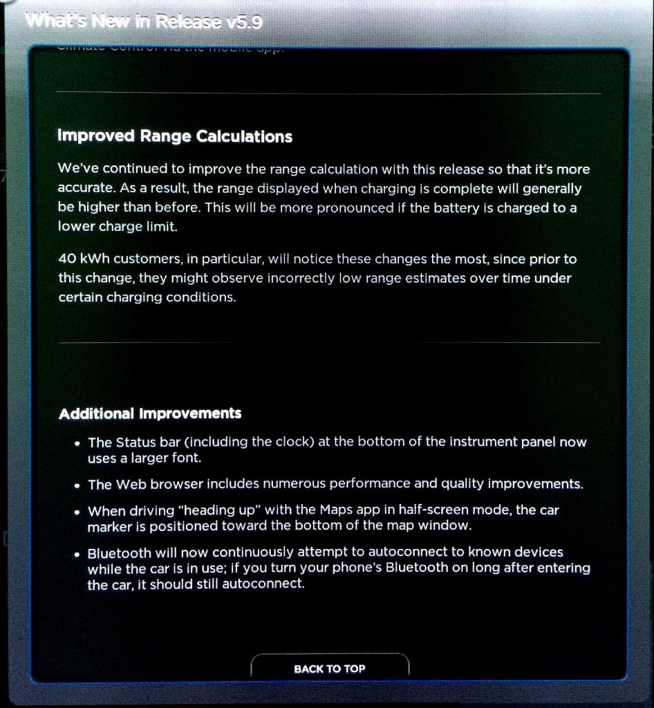 Tesla Firmware 5.9 Range Calculations