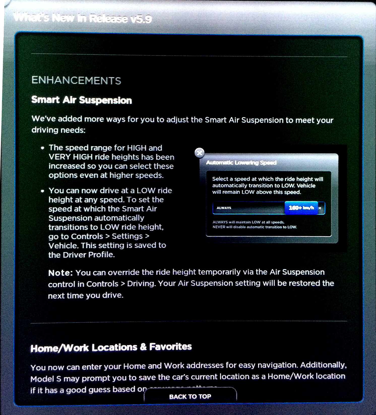 Tesla Firmware 5 9 Brings Smart Air Suspension Hill
