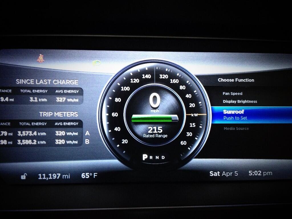 Tesla Firmware 5.9 150 mph Speedo