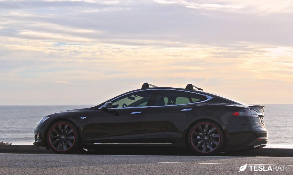 Tesla Model S Roof Rack Whispbar System Seamless Elegance