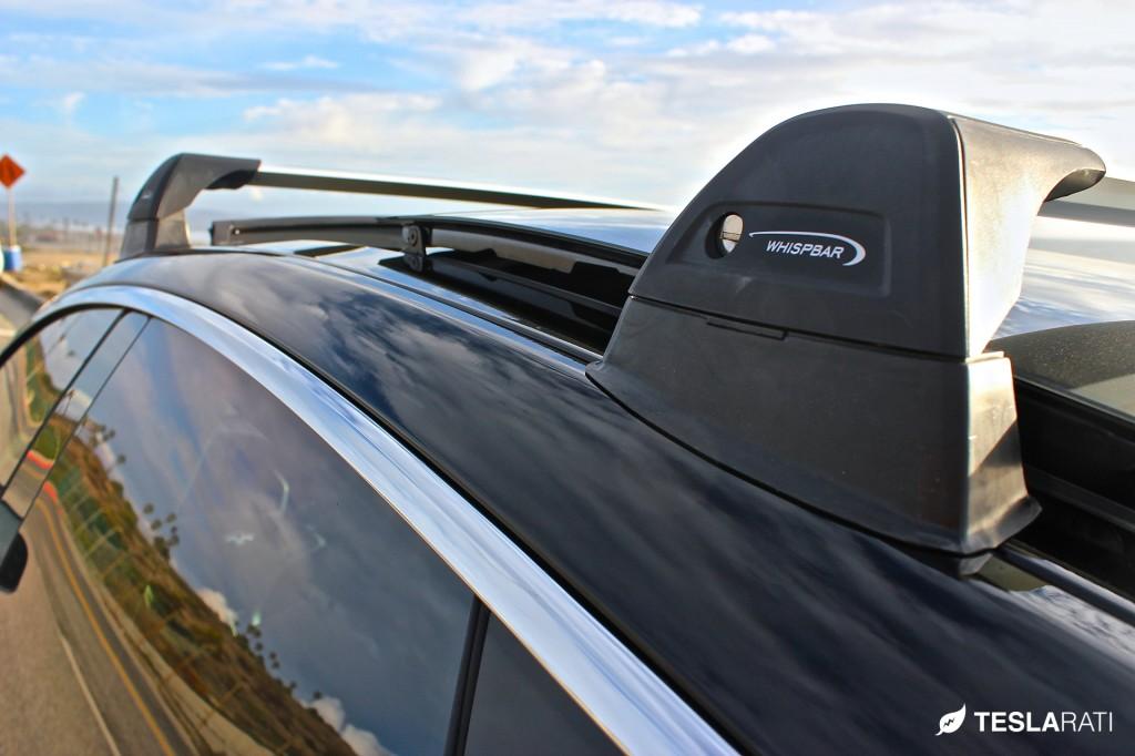 Tesla Model S Roof Rack Whispbar Pano Clearance