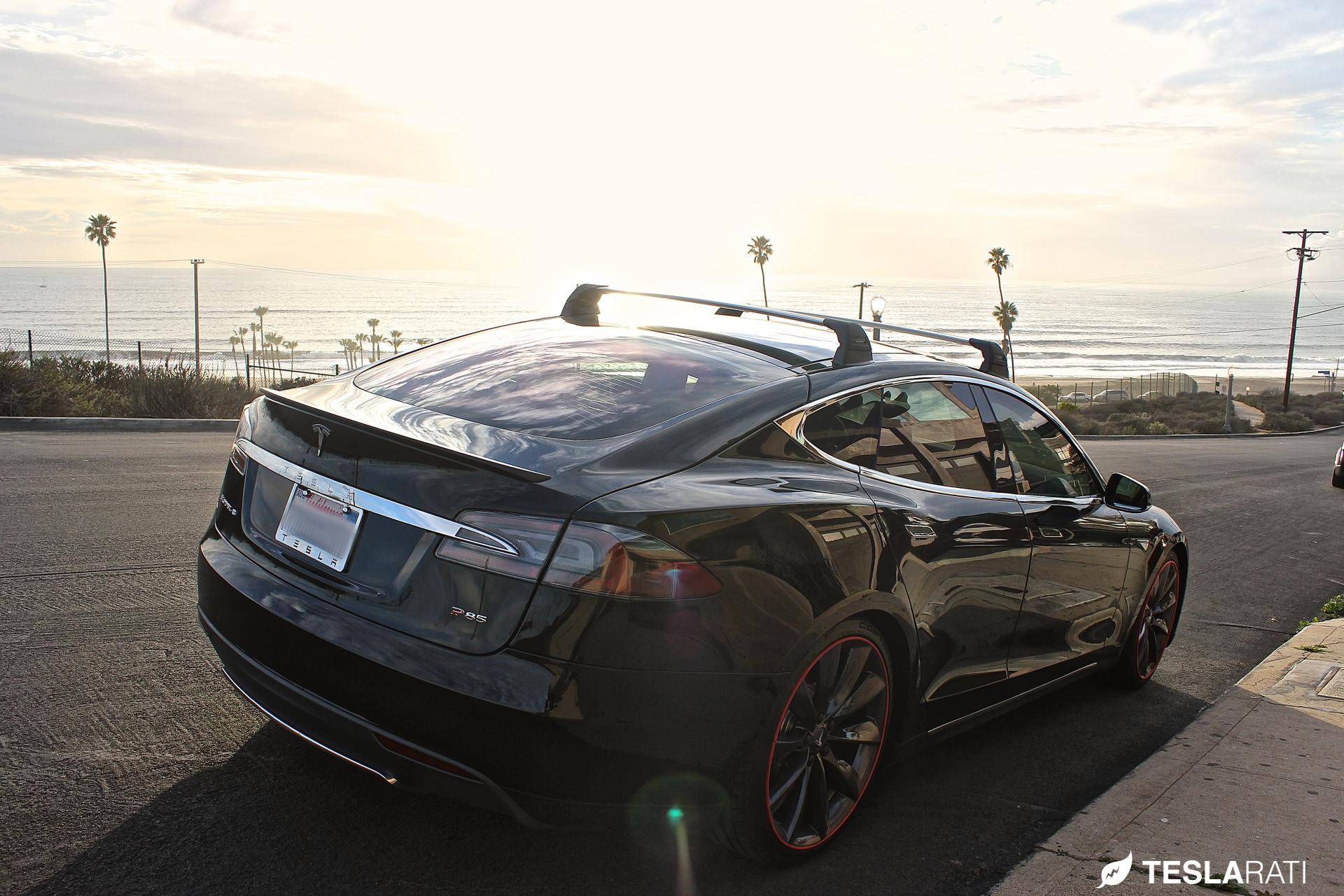 Tesla Model 3 Roof Rack System Spotted New Car Delivered