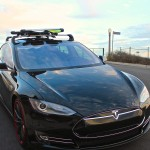 Tesla Model S Roof Rack Whispbar Snow Mount WB300