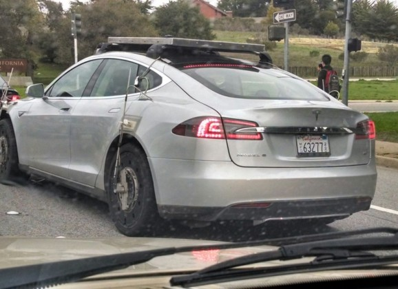 The Tesla Model S/X mystery car