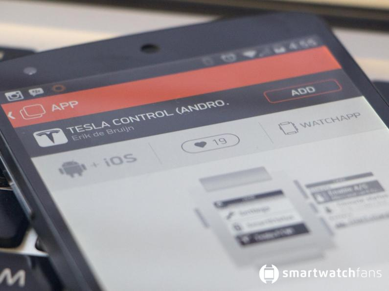 Tesla Control App Pebble Smart Watch