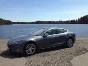 Model S by lake