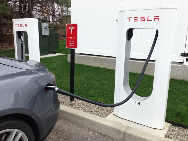 Tesla Road Trip Supercharger