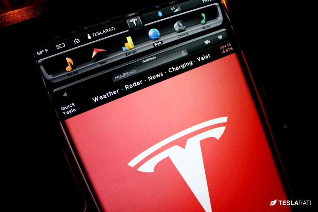 Quick Tesla App on the Tesla Model S Web Browser
